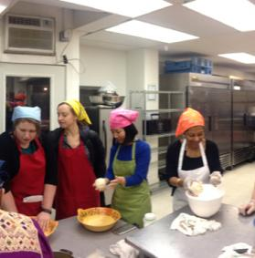 Estela background with cooking class