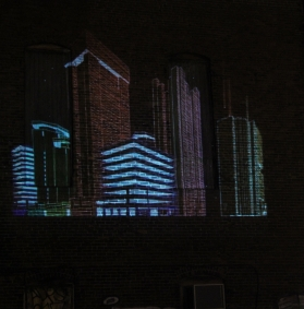 City Built projection by Andrew Ringler andrewringler.com