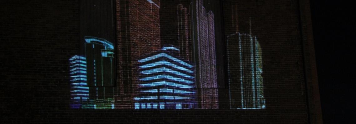 City Built projection by Andrew Ringler andrewringler.com
