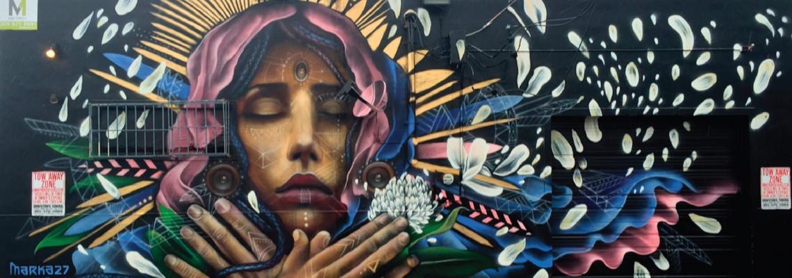 Marka27 mural, Victor Quinonez 2015