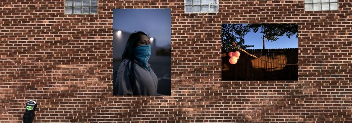 Mock up of wall, images by iaritza menjivar
