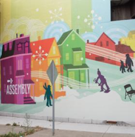 James Weinberg Assembly mural